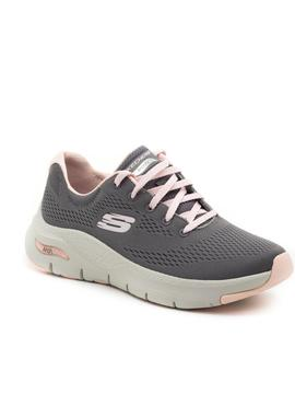 Deportivos Skechers Arch Fit Grises para Mujer