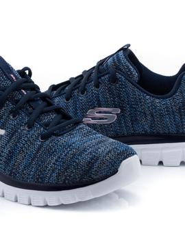 Deportivo Skechers Azul Graceful