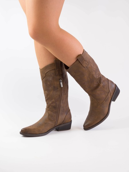 Mustang 57441 | bota mosquetera mujer taupe | Club del